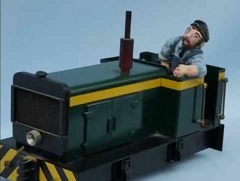 Mr Fox IP engineering driver unpainted resin garden railway 16mm scale