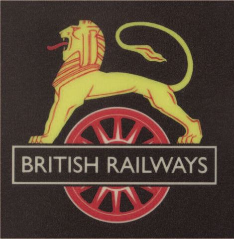 BR early Lion on wheel crest sign railway  NRM British Railways - The Vale of Rheidol Railway