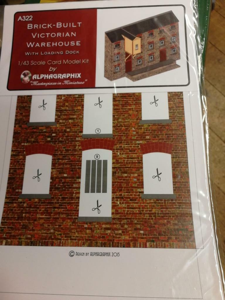 Alphagraphix brick built warehouse A322 7mm O gauge 1:43 card kit - The Vale of Rheidol Railway