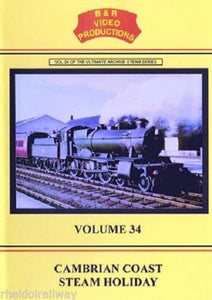 Aberystwyth, Towyn, Portmadoc, Cambrian Coast Steam Holiday (B&R) Vol 34 DVD - The Vale of Rheidol Railway