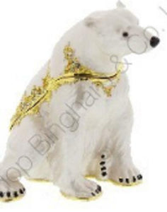 Juliana polar bear 14937 trinket box - The Vale of Rheidol Railway