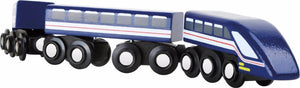 blue lightning train small foot legler wooden train fits Brio - The Vale of Rheidol Railway