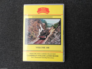 Barmouth, Talerddig, Shrewsbury, Cambrian Steam Landcruise Part 1 B&R Vol108 DVD - The Vale of Rheidol Railway