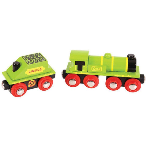 Bigjigs Big Green Engine wooden train fits Brio legler - The Vale of Rheidol Railway