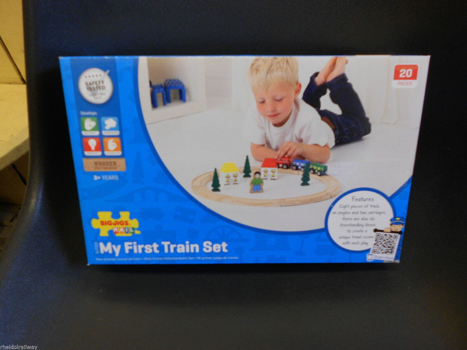 Wooden train BIGJIGS My First Train Set fits Brio