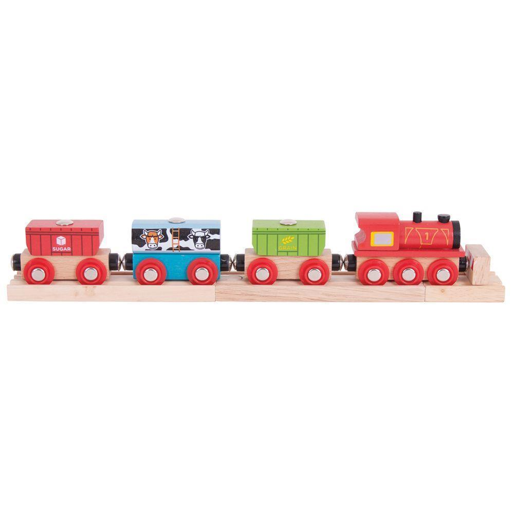 Bigjigs cereal train wooden train fits Brio legler