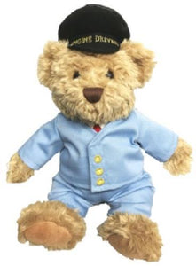 Scraggy railway bear 30cms with removable clothing edward the engine driver