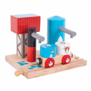 wooden train,Bigjigs,Milk and water depot,fits Brio