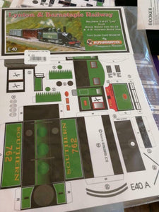 Lynton Barnstaple Lyn SR livery E40 Alphagraphix 7mm card kit - The Vale of Rheidol Railway