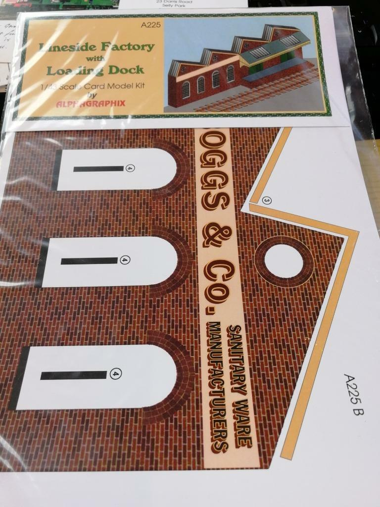 lineside factory & loading dock Low relief  7mm  1:43 card kit Alphagraphix A225
