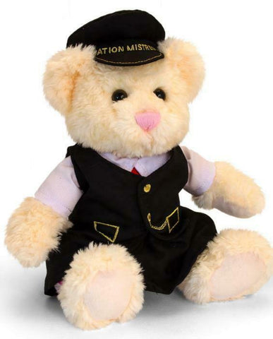 Kate the station mistress plush railway bear - The Vale of Rheidol Railway