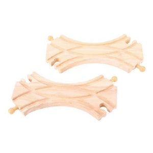 BigJigs Double Curved Turnouts (Pack of 2) track wooden train fits Brio - The Vale of Rheidol Railway