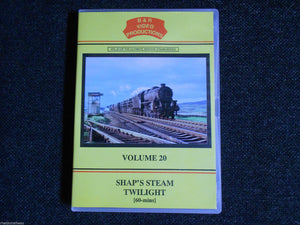 Shap, Crewe, Shap's Steam Twilight, B & R Volume 20 DVD - The Vale of Rheidol Railway