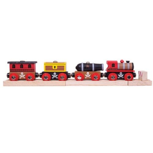 Bigjigs Pirate train wooden fits Brio - The Vale of Rheidol Railway
