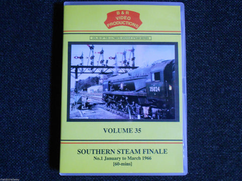 Waterloo, Weymouth, Southern Steam Finale Part 1, B & R Volume 35 DVD - The Vale of Rheidol Railway
