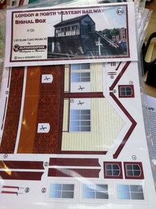 Alphagraphix LNWR Signal Box A126 7mm O gauge 1:43 Card Kit - The Vale of Rheidol Railway