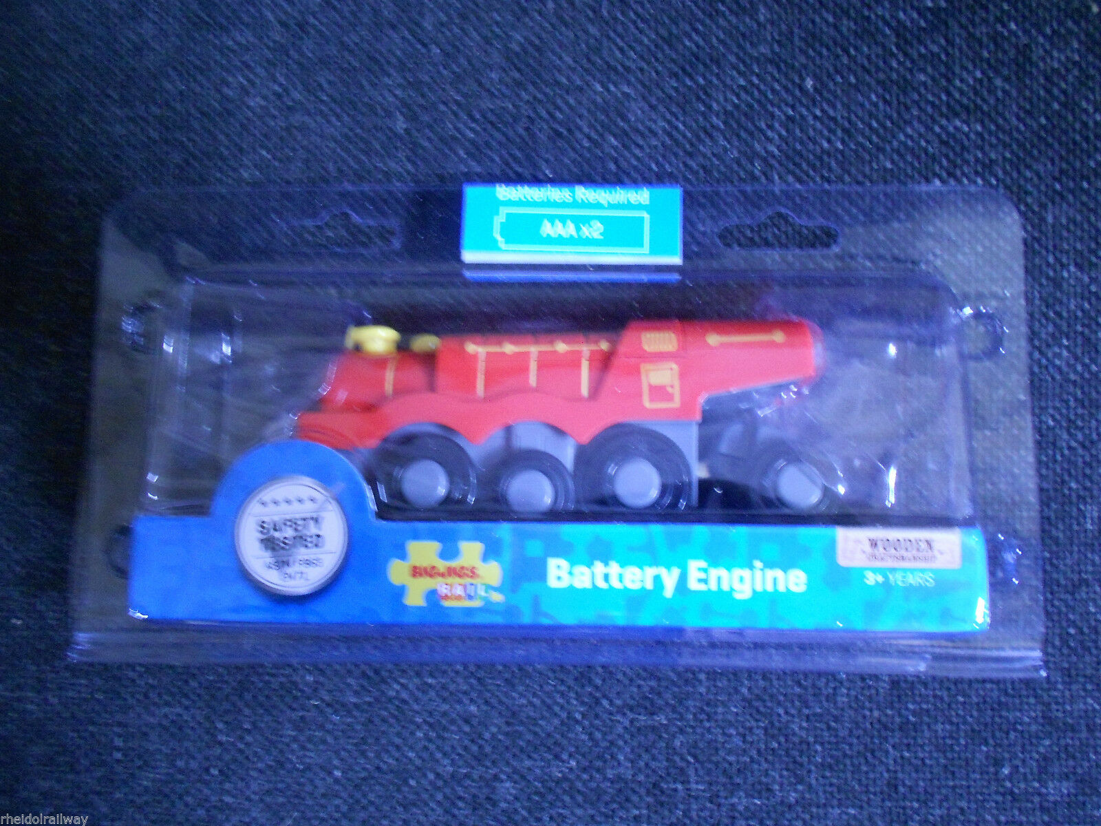 wooden train,BigJigs Red Battery Engine,fits Brio