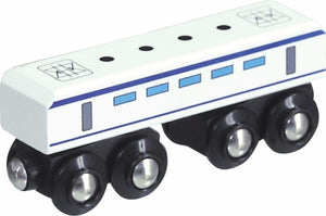 electric suburban unit unboxed small foot legler wooden train fits Brio