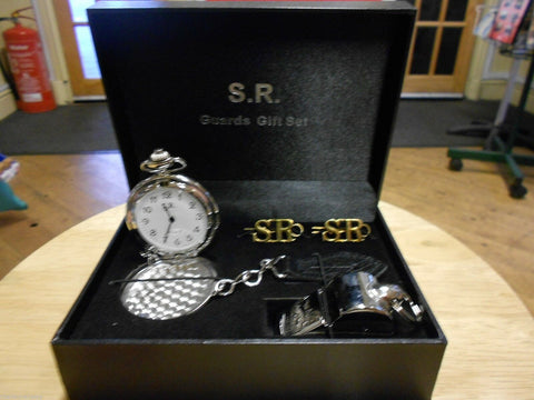S.R. Guards Gift Set. Southern railway whistle badge watch replica - The Vale of Rheidol Railway