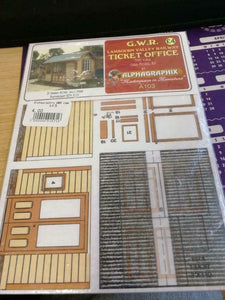 GWR ticket office Lambourn valley Alphagraphix 7mm card kit A103 - The Vale of Rheidol Railway