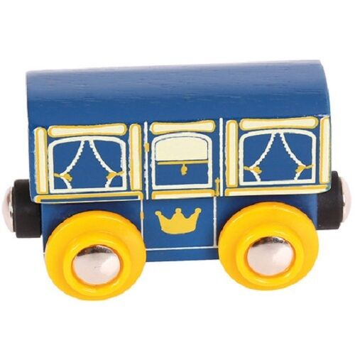 wooden train,Bigjigs,Royal carriage,fits Brio