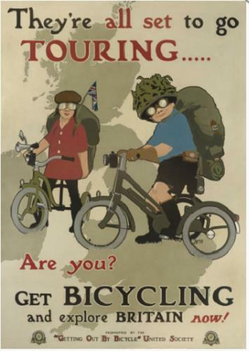 Bicycle poster by AG Cain Touring Britain