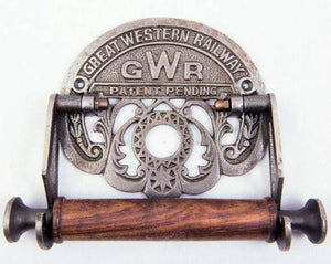 GWR cast iron toilet roll holder loo replica - The Vale of Rheidol Railway