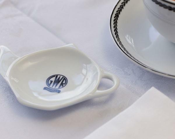 Replica GWR porcelain tea bag rest Recreations by Centenary Lounge - The Vale of Rheidol Railway