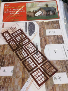 NER crossing keepers cottage  7mm O gauge 1:43 card kit Alphagraphix A122