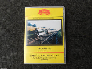 Paddington, Shrewsbury, Talerddig, Cambrian Coast Route Part 1 B&R Vol100 DVD - The Vale of Rheidol Railway