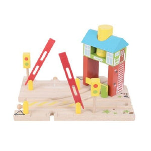 wooden train,Bigjigs,Signal box,fits Brio
