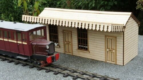 village station kit laser cut suits garden railway Ip engineering LGB SM32 G