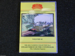 Hereford, Steam Through The Cotswolds (The Cathedrals Express) B&R Vol 62 DVD