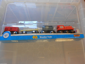 Wooden train,BigJigs Freight Train fits Brio