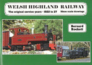 Welsh Highland Railway original service years 1922 - 37 16mm scale drawings