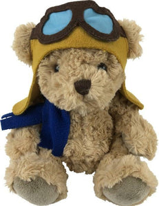 Bertie the Flying Pilot Bear Plush 20cm - The Vale of Rheidol Railway