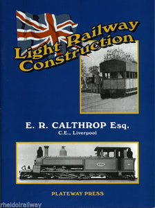 Calthorp,Barsi, - Light Railway Construction E R Calthorp India - The Vale of Rheidol Railway