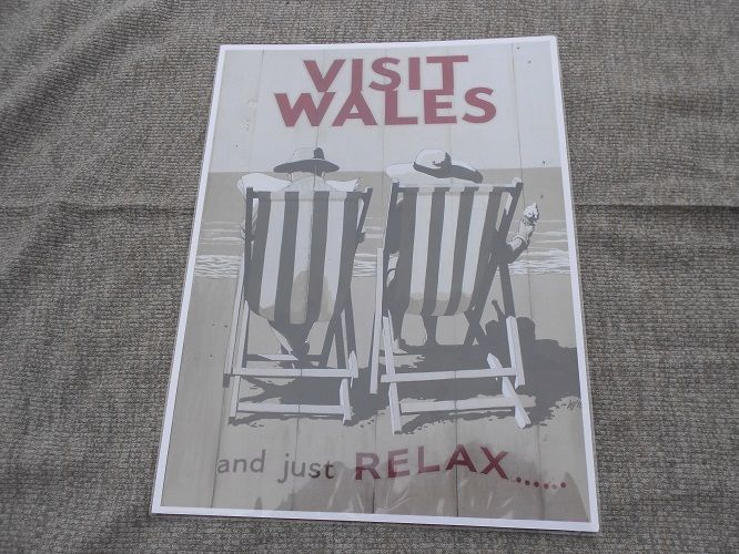 Visit Wales And Just Relax Large Poster 42 cm by 30 cm