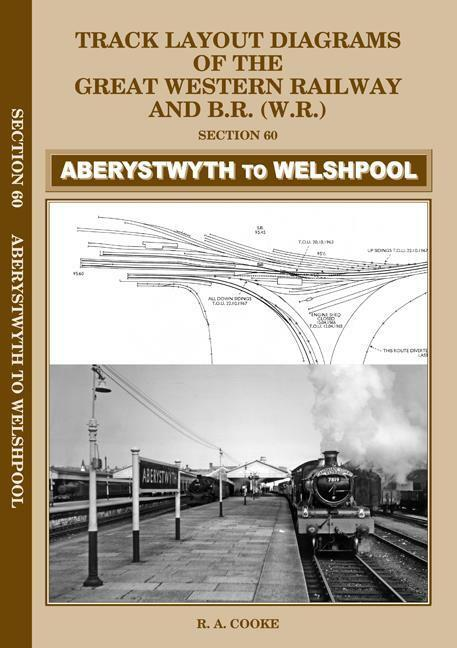 Aberystwyth Welshpool Track layout diagrams GWR BR no.60 - The Vale of Rheidol Railway