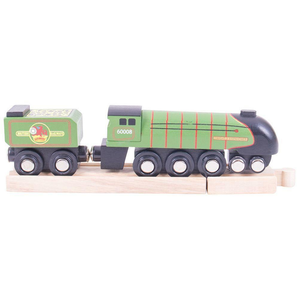 Dwight D Eisenhower Bigjigs wooden railway fits Brio