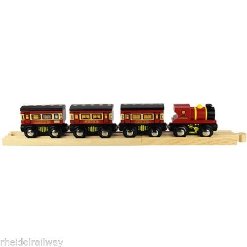 Bigjigs Sleeper train, fits Brio, wooden train - The Vale of Rheidol Railway