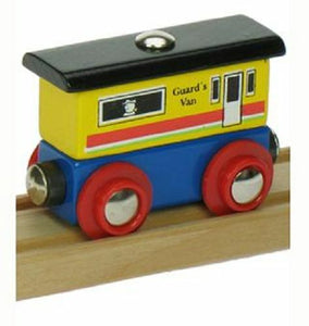 wooden train,Bigjigs,Name Guards Van,fits Brio - The Vale of Rheidol Railway