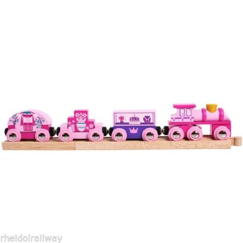Bigjigs Princess train, fits Brio, wooden train