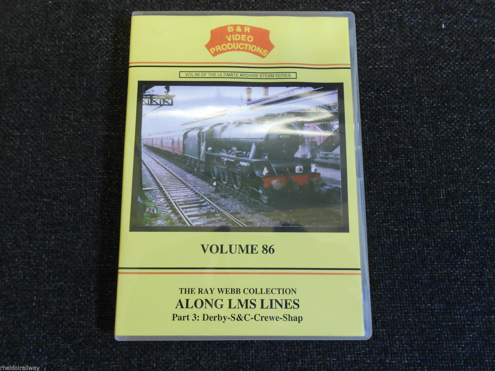 Derby, Settle & Carlisle, Crewe, Shap, Along LMS Lines Part 3 B&R Vol 86 DVD - The Vale of Rheidol Railway