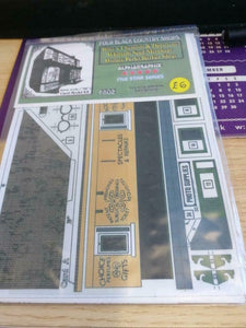 Four black country shops 4mm OO gauge card kit Alphagraphix F502