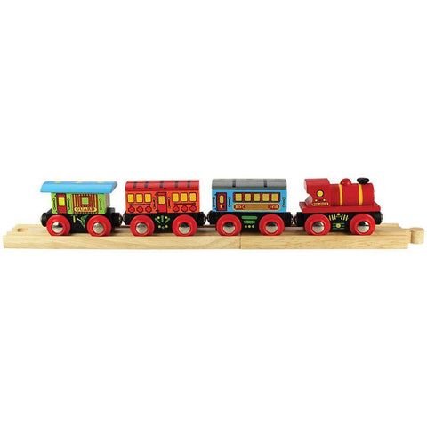 Bigjigs passenger train wooden train fits Brio legler - The Vale of Rheidol Railway