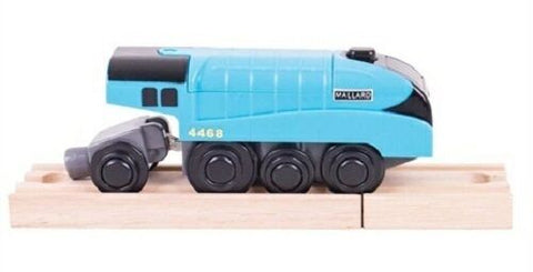 mallard battery operated  wooden railway bigjigs fits brio - The Vale of Rheidol Railway