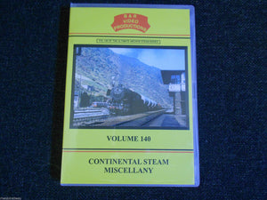 France, Spain, West Germany, Continental Steam Miscellany B & R Vol 140 DVD