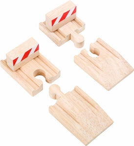 wooden train Buffers and ramps small foot legler fits Brio Bigjigs - The Vale of Rheidol Railway