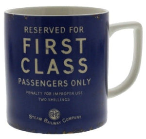 First class mug railway themed gift Harvey Makin
